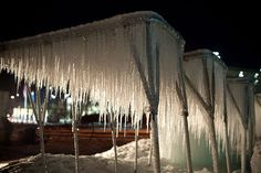 Growing icicles
