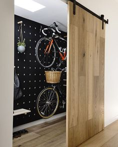 17 Amazing Bike Storage Ideas You Just Have To See Amazing space-saving cool bike storage ideas for small room and apartments. These indoor bike storage solutions are for pedal pushers who can't part with their bike. Indoor Bike Storage, Bicycle Storage, Bike Storage No Garage, Bike Storage Room Design, Bike Storage In House, Bike Storage Inside, Bike Storage Ikea, Home Bike Rack, Scooter Storage