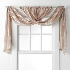 a different way to use those curtain panels 11 Fabulous Valance Designs