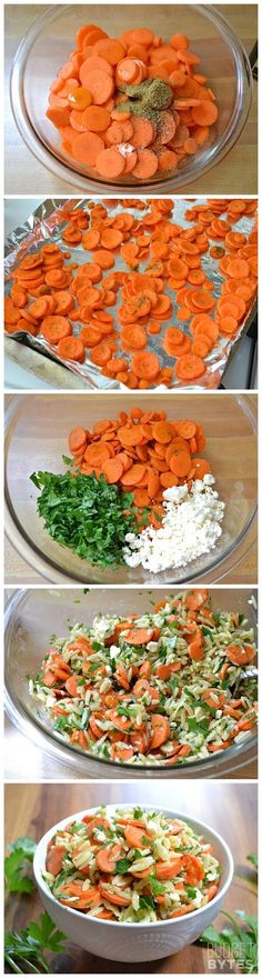 Carrot & Orzo Salad - SO yummy and fresh! I omitted the parsley (not a fan) and chopped up some cucumber bites instead - a great summer ...