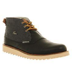 Lacoste FARMINGTON BLACK LEATHER Shoes - Lacoste Trainers - Office Shoes