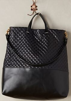 black quilted shopper tote #anthrofave http://rstyle.me/n/r62zzr9te