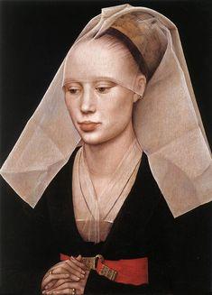 RITRATTO DI GIOVANE DONNA -  Rogier van der Weyden - 1460