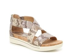 Women Cheers Platform Sandal -Taupe/Off White Snake Print Shoe Bin, Adrienne Vittadini, Snake Print, Other Accessories, Low Heels, Casual Looks, Taupe, Espadrilles, Platform