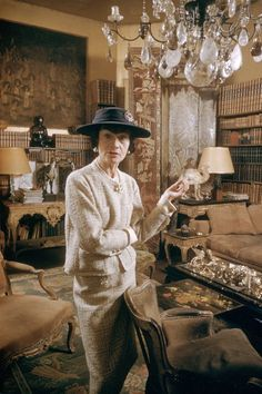 Coco Chanel at her apt on Rue Cambon  circa 1959