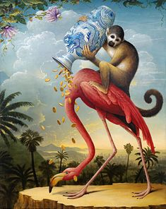 Kevin Sloan     #This painting sums up my assessment of the current political current. No offense, Mr. Sloan.