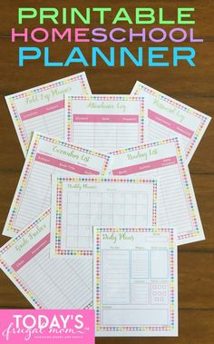 This all-new printable homeschool planner is a great addition to any homeschool. Come get your homeschool organized, today! :: todaysfrugalmom.com
