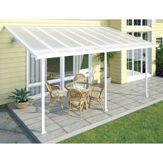 The pergola kits are the easiest and quickest way to build a garden pergola. There are lots of do it yourself pergola kits available to you so that anyone could easily put them together to construct a new structure at their backyard. Pergola Diy, Pergola Decorations, Pergola Carport, White Pergola, Small Pergola, Pergola Attached To House, Metal Pergola, Deck With Pergola, Outdoor Pergola
