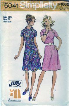 Vintage 1972 Simplicity 5041 UNCUT Sewing by SewUniqueClassique