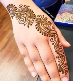 Hello Monday :) Please DM for this week's Appointments! Henna Tattoo Designs Simple, Full Hand Mehndi Designs, Simple Arabic Mehndi Designs, Mehndi Designs For Girls, Mehndi Designs For Beginners, Modern Mehndi Designs, Mehndi Design Pictures, Wedding Mehndi Designs, Mehndi Designs Book