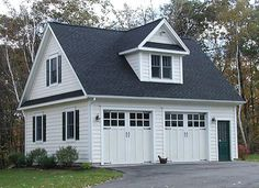 Garage for the husband upstairs Pilates Studio for me. Ideas for the future. American Garage Plans 2 Car Garage with Dormer Plans - March 07 2019 at 2 Car Garage Plans, Garage Apartment Plans, Garage Apartments, Detached Garage Plans, Detached Garage Designs, 3 Car Garage, Garage Art, Dream Garage, House Plan With Loft