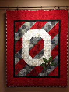 Ohio State Quilt...beautiful!!! This is going to take some major begging on my part to get my mom to make me one of these