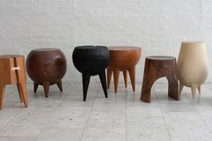 Locally Sourced and Salvaged – Wooden Stump Stools by Kieran Kinsella