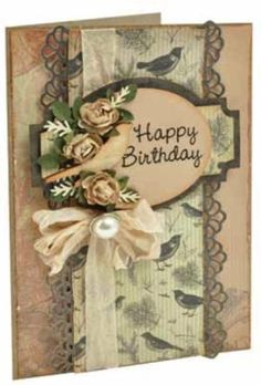 Vintage inspired card - Kaisercraft paper