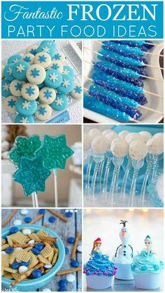 Fantastic Frozen Party Food Ideas, plus printables! #frozen #printables: