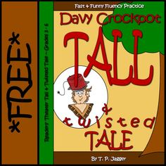 """Free Davy Crockett-themed Readers' Theater Tall Tale: """"Davy Crockpot: A Tall & Twisted Tale""""* * * * * * * * * * * * * *This twisted tall tale readers' theater freebie is excerpted from my DAVY CROCKPOT FREES THE SUN Literacy Toolkit, which include Tall Tales Activities, Drama Activities, Literacy Activities, Close Reading Strategies, Davy Crockett, Teaching Channel, Dramatic Play Centers, Readers Theater, Art Lessons Elementary"""