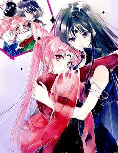 Black Lady and Mistress 9 // Chibi Sailor Moon & Hotaru Tomoe Sailor Jupiter, Sailor Mars, Sailor Moon Manga, Sailor Saturn, Sailor Moon Villains, Sailor Moon Fan Art, Sailor Venus, Manga Anime, Fanart Manga