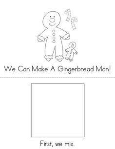 I Can Make a Gingerbread Man! Book from TwistyNoodle.com
