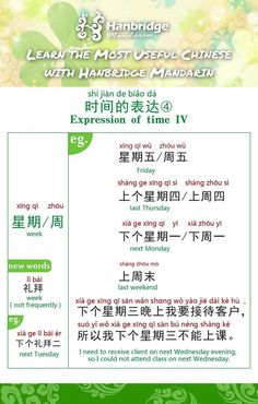 Expressions of time Chinese Sentences, Chinese Phrases, Chinese Words, Basic Chinese, Chinese English, Learn Chinese, Mandarin Lessons, Learn Mandarin, Mandarin Language