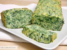 Ingredientes: 3 huevos 180 g de harina 300 g de espinacas frescas 125 ml de nata ( crema de leche) 80 g de queso rallado al gusto, yo manchego 1/2…