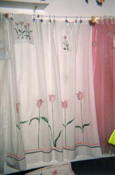 Carolita : Cortinas de tela para baños