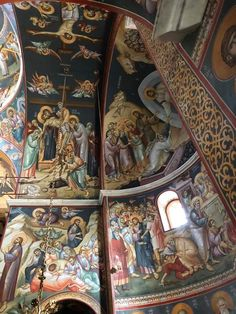 Church Interior, Byzantine Icons, Orthodox Icons, Mural Art, Color Pallets, Large Art, Christianity, Scene, Painting
