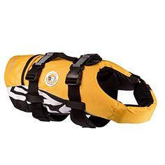 EzyDog DFD Dog Flotation Device Safe Buoyancy Aid Swim Life Jacket Hydrotherapy Yellow--32.3