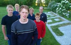 Eric Staal, Marc Staal, Jordan Staal, and Jared Staal. Look how little they all were--especially Jared!