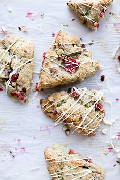 Blood Orange Scones with Hazelnuts, Thyme and White Chocolate Drizzle   www.floatingkitchen.net