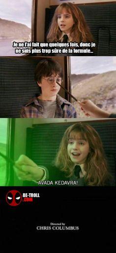 Mauvaise formule Hermione... - Be-troll - vidéos humour, actualité insolite