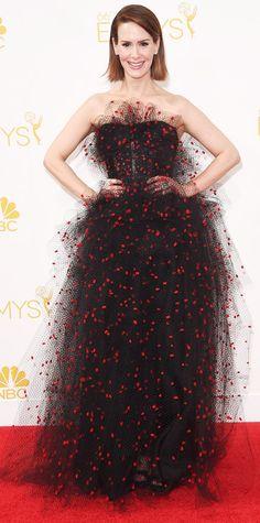 Emmy Awards 2014 Red Carpet Photos - Sarah Paulson in Armani Prive