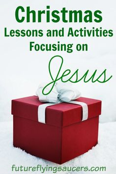 Christmas is around the corner. Here are different Christmas Lessons to use as you teach kids in your home or church about Jesus this holiday season. ~ futureflyingsaucers.com