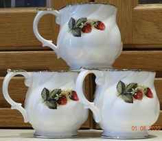 VINTAGE Queen's CHURCHILL Fine Bone China Cups Antique Fruit Collectible – British & Far East Traders Lifestyle & Shopping Blog Coffee Cups, Tea Cups, Beautiful Fruits, Lifestyle Shop, Churchill, Bone China, Body Painting, Delicate, British