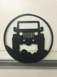 #JEEP Jeep Garage, Garage Signs, Jeep Wrangler Unlimited, Jeep Wrangler Tj, Jeep Tattoo, Car Accessories For Guys, Wrangler Accessories, Jeep Decals, Jeep Tj