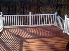 Ever since we completed our deck in November (read more about that here ), we have been debating whether to stain it or seal it. Sherwin Williams Stain Colors, Sherwin Williams Deck Stain, Deck Stain Colors, Deck Colors, Dark Deck, Exterior Stain, Exterior Design, Deck Makeover, Deck Pictures