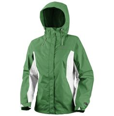 Nice looking rain jacket -- love the green against the white.    Columbia Women's Arcadia Rain Jacket - Dick's Sporting Goods
