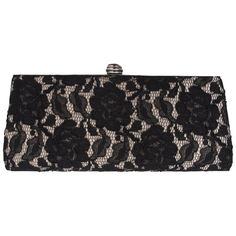 Kaliko Lace Clutch Bag, Black Multi, One size ($34) found on Polyvore