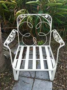 1968 MEADOWCRAFT Wrought Iron ROSE Outdoor Patio Dining Furniture .