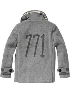 Basic woolen caban - grey melange - 12 - 3