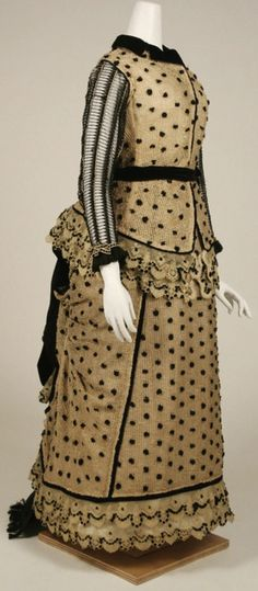 """""""Polka Dot Skirt...Finally, a version for Alexia."""" 1880-1883 via The Costume Institute of the Metropolitan Museum of Art. Parasol Protectorate"""