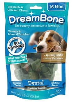 DreamBone Mini Vegetable and Chicken Dog Dental Chews * Startling review available here  : Dog Treats