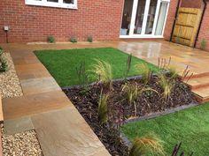 Garden Design and Build all-in-one solution based in Salisbury, Wiltshire Sandstone Paving, Planting, Garden Design, Sidewalk, Patio, Building, Style, Swag, Plants