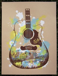 Paul Guitar Screen Print Poster Saint Paul by dogfishmedia Screen Print Poster, Poster Prints, Art Prints, Arte Cello, Music Wall, Music Music, Sheet Music Art, Different Art Styles, Sunflower Wallpaper