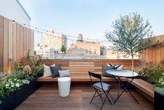 Roof Terrace Design, Rooftop Design, Balcony Design, Patio Design, Backyard Designs, Terraced Backyard, Backyard Patio, Backyard Landscaping, Backyard Waterfalls