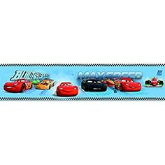 Galerie Official Disney Cars Lightning McQueen Childrens Wallpaper Border (Blue CR3505-1)