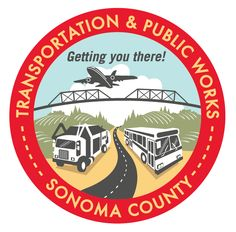 Logo for Sonoma County dept of Transportation and Public Works