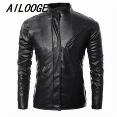 2016 New PU Leather Motorcycle Jacket Men's Autumn Lapel La chain Men Fake Two Leather Jackets And Coats Clothing