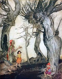 Aesop's Fables:  The Trees and the Axe    Arthur Rackham