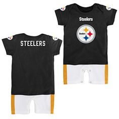 Get this Pittsburgh Steelers Newborn Jersey Romper at ThePittsburghFan.com 63ff8ee6f