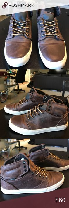 Men's Vans - OTW Collection - Size 9 Lightly used (max 3 times) Men's Vans OTW Collection in brown leather. Size 9. Vans Shoes Sneakers